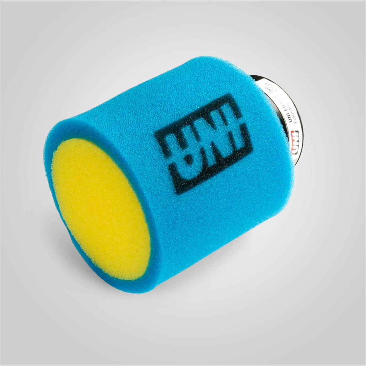 filtre a air uni 38mm jaune bleu smallmx dirt bike pit bike quads minimoto. Black Bedroom Furniture Sets. Home Design Ideas
