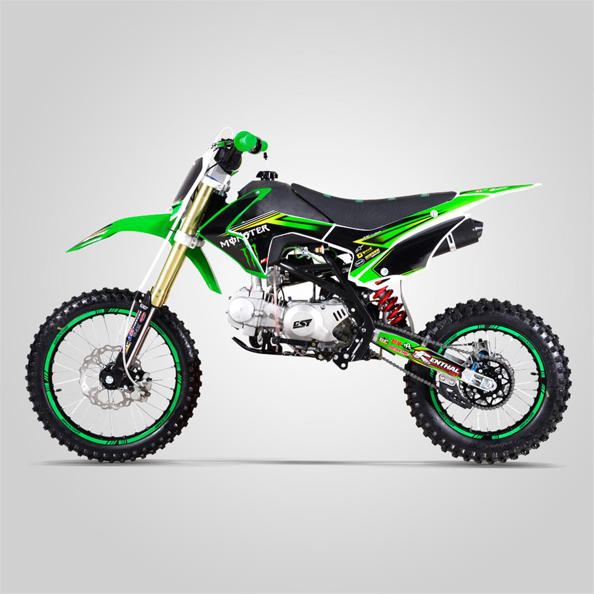 Dirt Bike GUNSHOT 140 FX MONSTER ENERGY 14/17 grande roue VERT