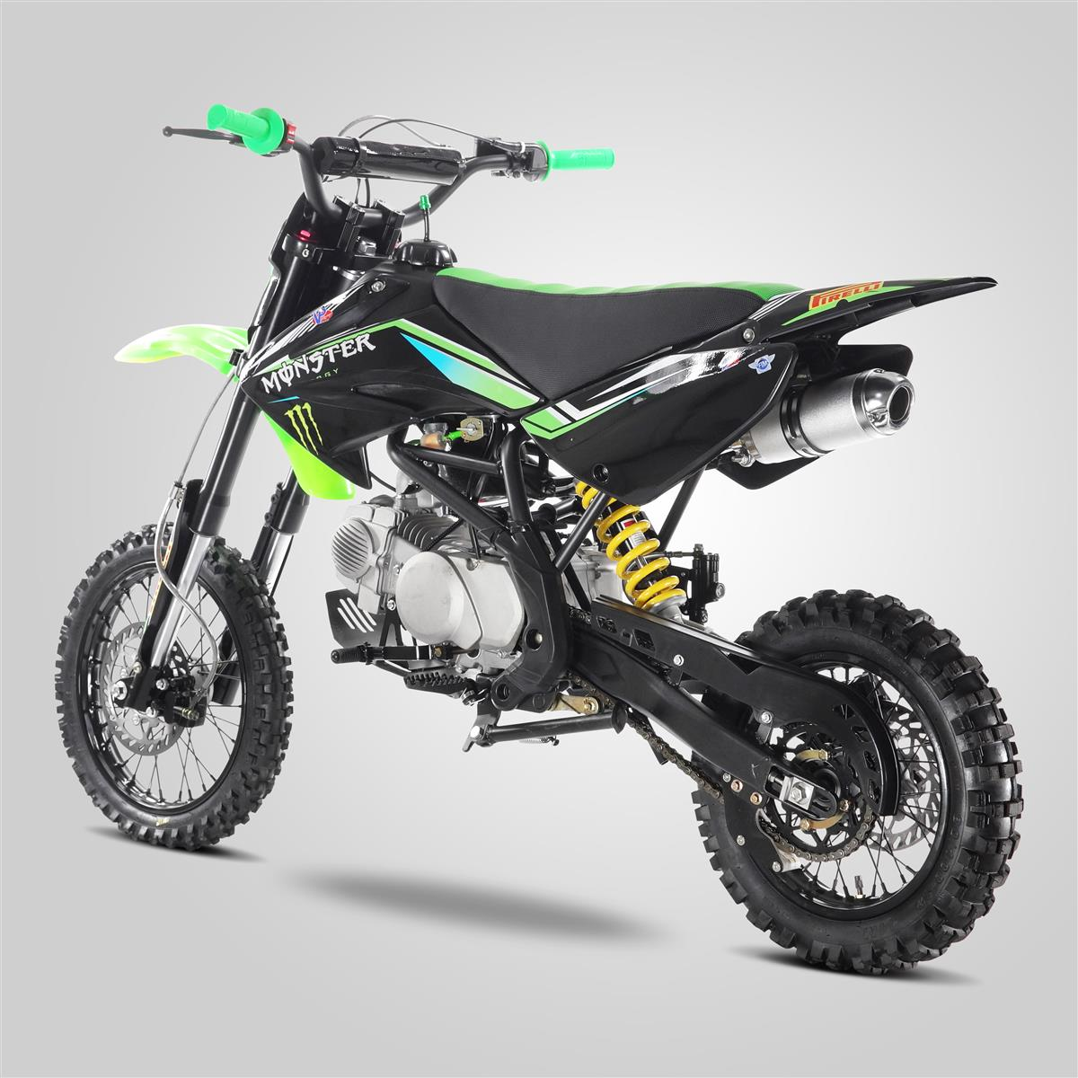 Dirt Bike 125 cc APOLLO ORION Noir/bleu  Achat / Vente moto Dirt Bike 125CC