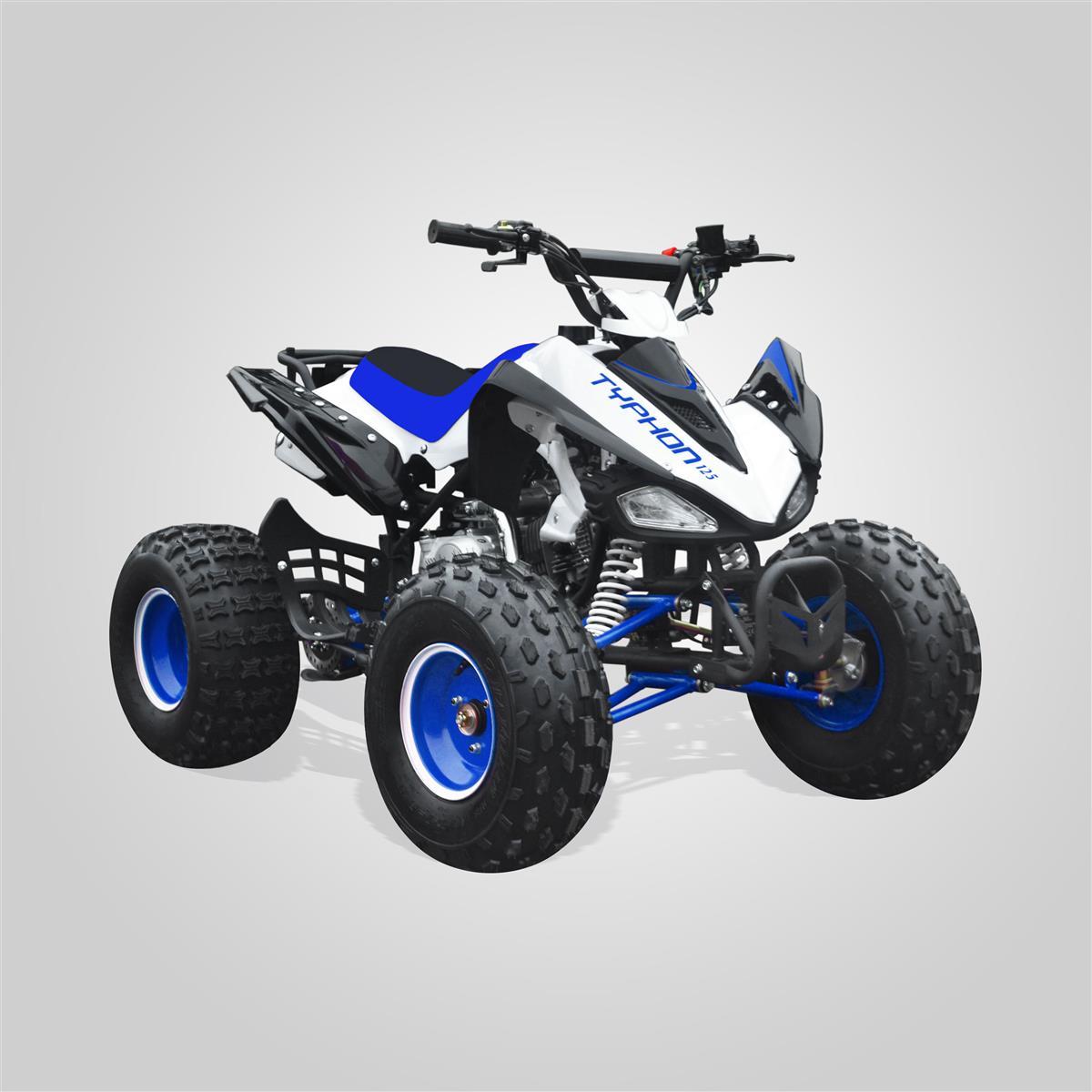 quad enfant typhon 125 bleu smallmx dirt bike pit bike. Black Bedroom Furniture Sets. Home Design Ideas
