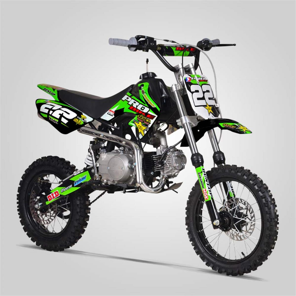 dirt bike probike 110cc semi auto noir 2017 smallmx dirt bike pit bike quads minimoto. Black Bedroom Furniture Sets. Home Design Ideas