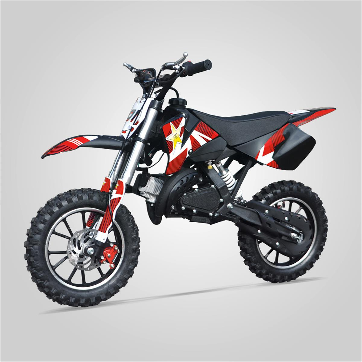 small mx pocket cross rx 49cc rouge smallmx dirt bike pit bike quads minimoto. Black Bedroom Furniture Sets. Home Design Ideas