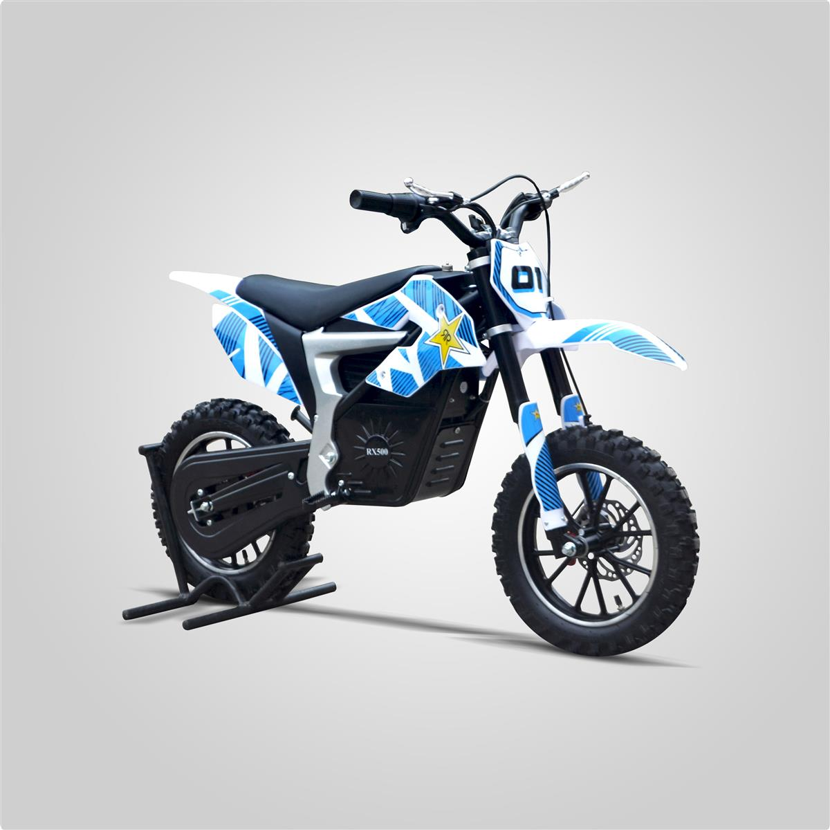pocket cross rx 500w bleu small mx smallmx dirt bike pit bike quads minimoto. Black Bedroom Furniture Sets. Home Design Ideas