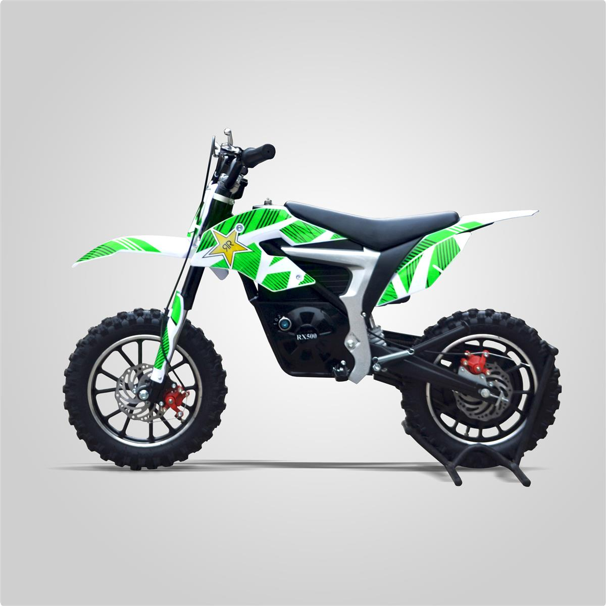 pocket cross lectrique rx 500w vert rockstar smallmx dirt bike pit bike quads minimoto. Black Bedroom Furniture Sets. Home Design Ideas