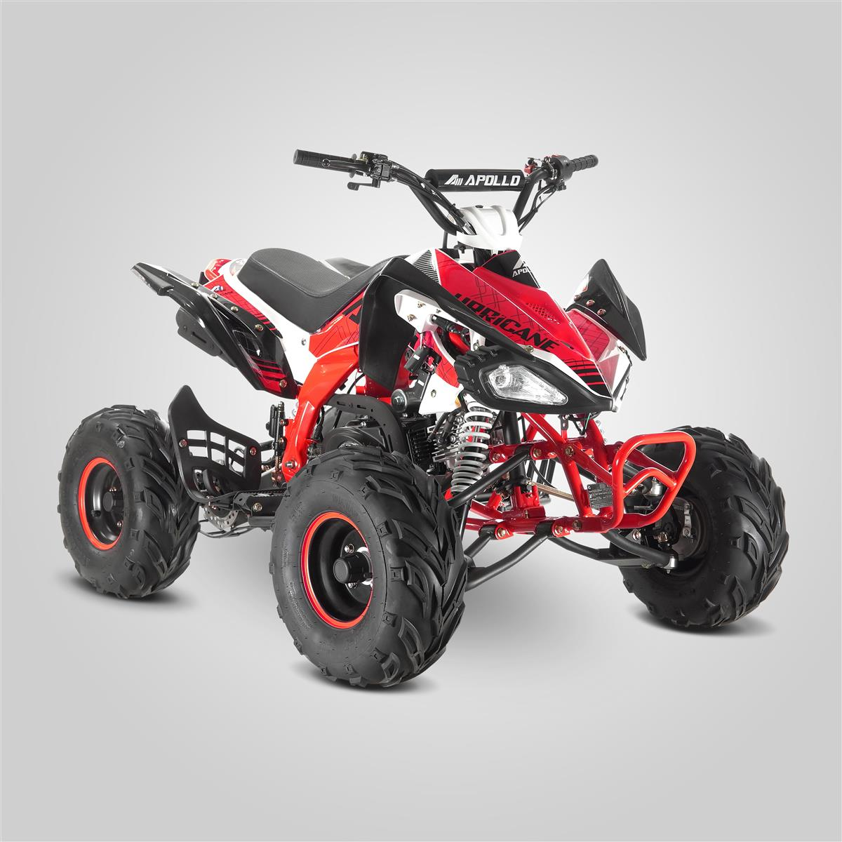 quad enfant apollo urricane rouge 125cc smallmx dirt bike pit bike quads minimoto. Black Bedroom Furniture Sets. Home Design Ideas
