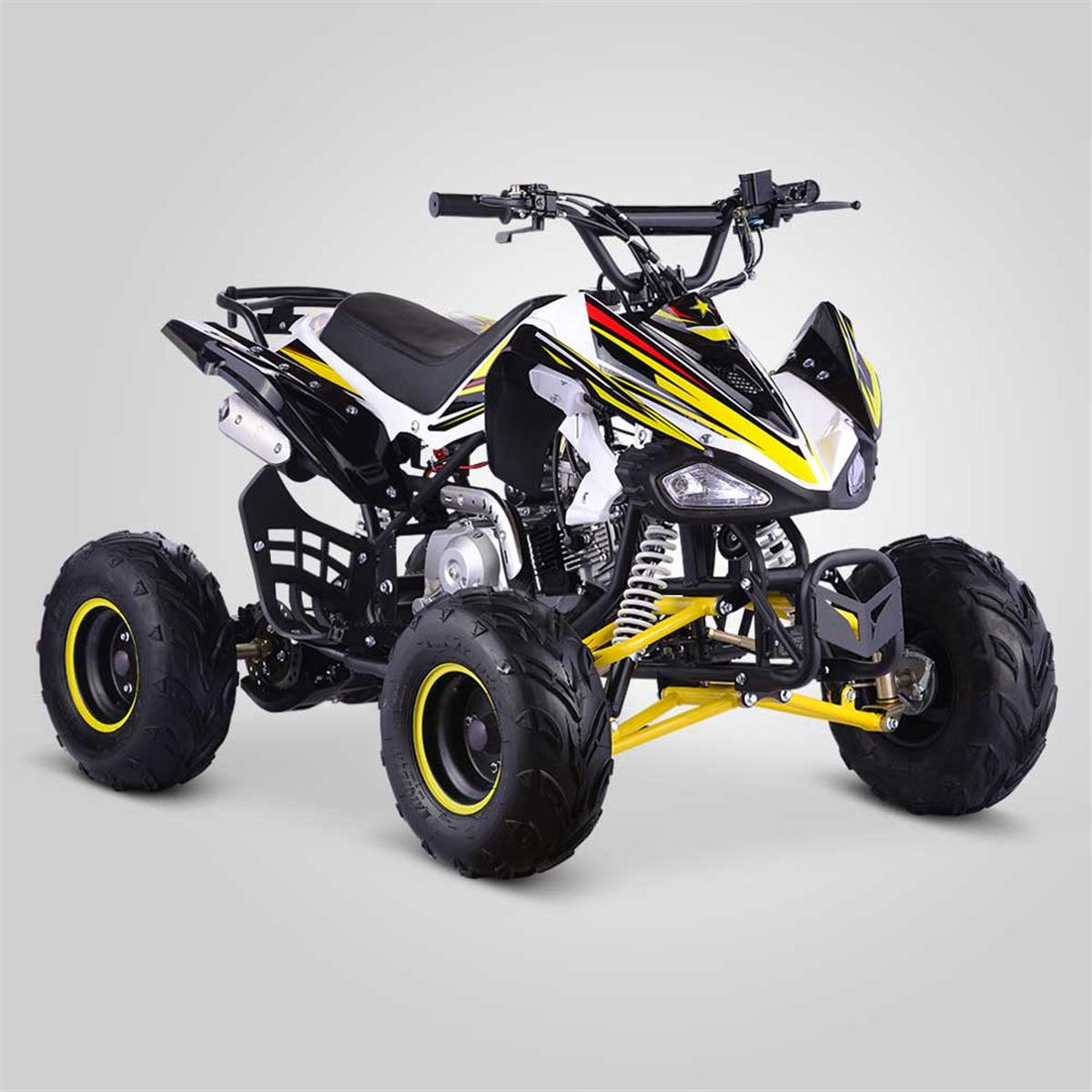 quad enfant typhon 110cc jaune smallmx dirt bike pit bike quads minimoto. Black Bedroom Furniture Sets. Home Design Ideas