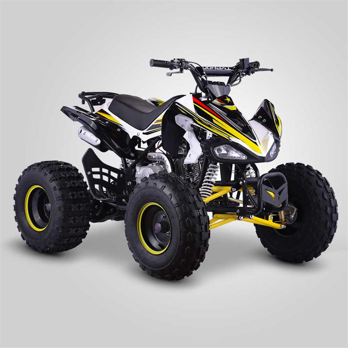 quad enfant typhon 125cc jaune smallmx dirt bike pit bike quads minimoto. Black Bedroom Furniture Sets. Home Design Ideas
