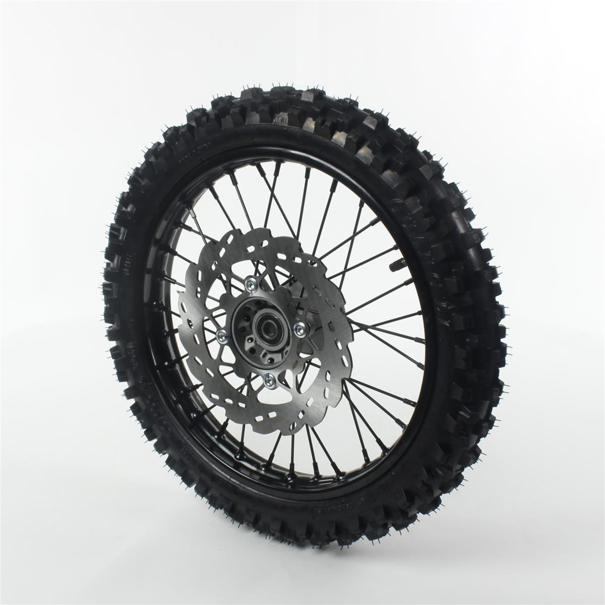 roue complete avant acier pneu guangli noire 14 diam tre 15 smallmx dirt bike pit bike. Black Bedroom Furniture Sets. Home Design Ideas