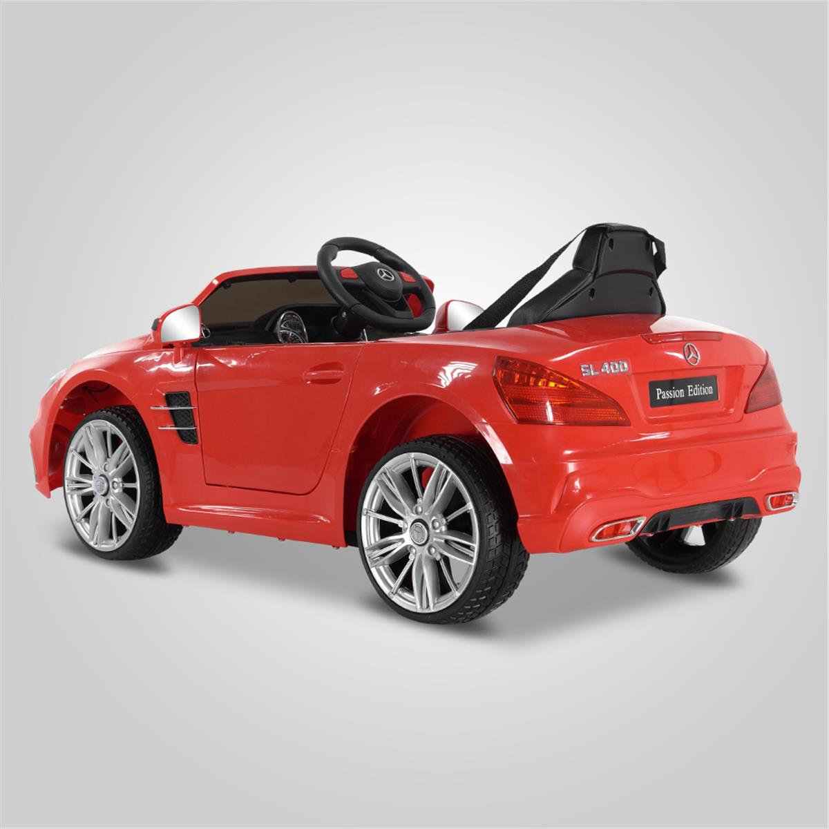 voiture lectrique enfants mercedes benz sl 400 rouge. Black Bedroom Furniture Sets. Home Design Ideas