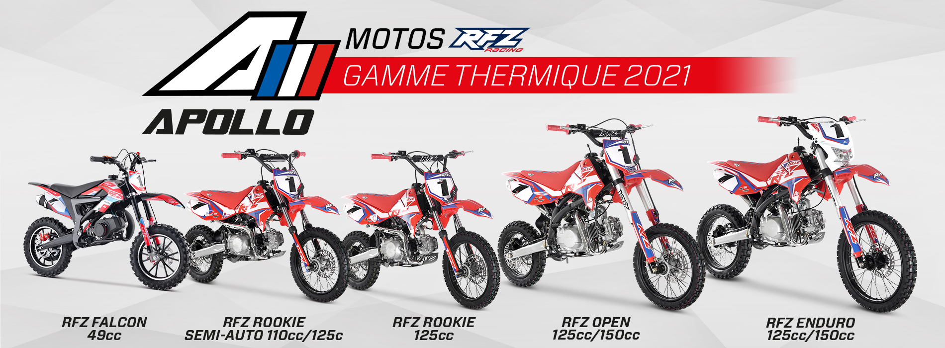 gamme motos thermiques 2021