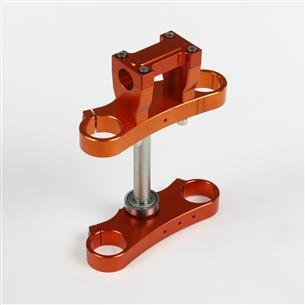 TES DE FOURCHE CNC 45/48MM - Ø28.6MM ORANGE